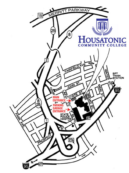 Map to Housatonic Community College
