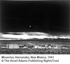 Moonrise, Hernandez, New Mexico, 1941 by Ansel Adams