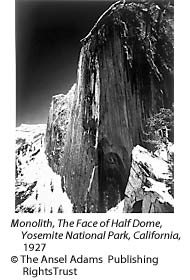 Monolith, The Face of Half Dome, Yosemite National Park, California, 1927 by Ansel Adams
