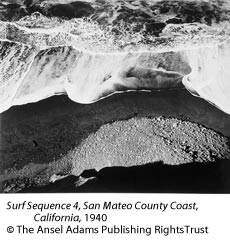 Surf Sequence 4, San Mateo County Coast, California, c.1940 by Ansel Adams