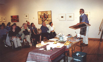 Talbot giving lecture in Gallery
