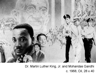 photo of Dr.  Martin Luther King and Mohandes Ghandi